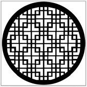 "Maze Kaleidoscope 1"" Gobo for Eddy Light Gobo Projector"