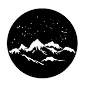 "Snowy Mountains 1"" Gobo for Eddy Light Gobo Projector"