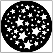 "Stars 1"" Gobo for Eddy Light Gobo Projector"