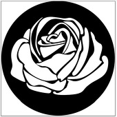 "Rose 1"" Gobo for Eddy Light Gobo Projector"