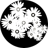 "Daisy Bunch 1"" Gobo for Eddy Light Gobo Projector"
