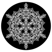 "6 Sided Lace 1"" Gobo for Eddy Light Gobo Projector"