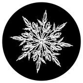 "Frosty Snowflake  1"" Gobo for Eddy Light Gobo Projector"