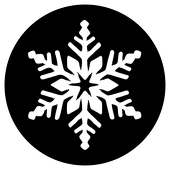 "Snowflake 2 1"" Gobo for Eddy Light Gobo Projector"
