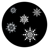 "Frosty Snowflakes 1"" Gobo for Eddy Light Gobo Projector"