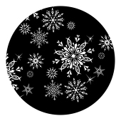 "Fancy Snowflakes 1"" Gobo for Eddy Light Gobo Projector"