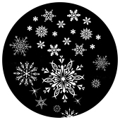 "Freefall Snowflakes 1"" Gobo for Eddy Light Gobo Projector"