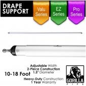 10-18ft Telescoping Drape Support w/ No Button Stops w/ Versatop™