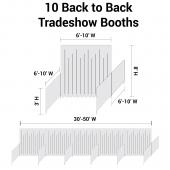 "Trade Show Booth Package - 10 ""Back-to-Back"" Trade Show Booths"