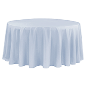 "108"" Round 200 GSM Polyester Tablecloth - Dusty Blue"