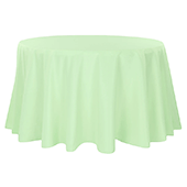 "108"" Round 200 GSM Polyester Tablecloth - Mint Green"