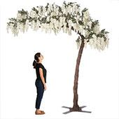 11 Feet Tall Grand Arch Fake Wisteria Tree - White