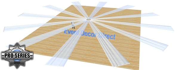 12-Panel 40ft Ceiling Draping Kit