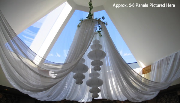 Ceiling Drapes in Use