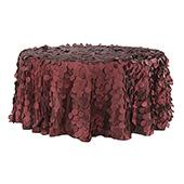 "Large Petal Gatsby Circle - Round Tablecloth - 120"" - Apple Red"