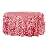 "Large Petal Gatsby Circle - Round Tablecloth - 120"" - Coral"