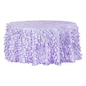 "Large Petal Gatsby Circle - Round Tablecloth - 120"" - Lavender"