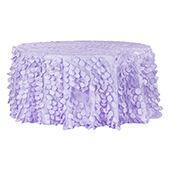 "Large Petal Gatsby Circle - Round Tablecloth - 120"" - Lavender"