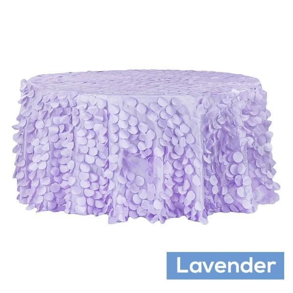 120 large petal Gatsby tablecloth EDD lavender