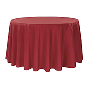 "120"" Round 200 GSM Polyester Tablecloth - Apple Red"
