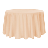 "120"" Round 200 GSM Polyester Tablecloth - Champagne"