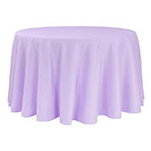 "120"" Round 200 GSM Polyester Tablecloth - Lavender"