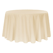 "120"" Round 200 GSM Polyester Tablecloth - Nude"