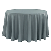 "120"" Round 200 GSM Polyester Tablecloth - Pewter"