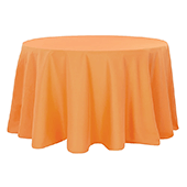 "120"" Round 200 GSM Polyester Tablecloth - Orange"
