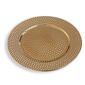 "13"" Plastic Charger Plate - C - 24 Pack - Gold"