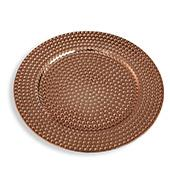 "13"" Plastic Charger Plate - C - 24 Pack - Rose Gold"