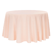 "132"" Round 200 GSM Polyester Tablecloth - Blush"