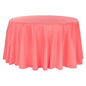 "132"" Round 200 GSM Polyester Tablecloth - Coral"