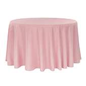 "132"" Round 200 GSM Polyester Tablecloth - Dusty Rose/Mauve"