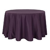 "132"" Round 200 GSM Polyester Tablecloth - Eggplant/Plum"