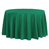 "132"" Round 200 GSM Polyester Tablecloth - Emerald Green"