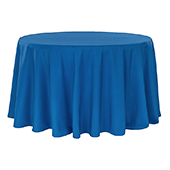 "132"" Round 200 GSM Polyester Tablecloth - Royal Blue"