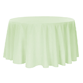 "132"" Round 200 GSM Polyester Tablecloth - Sage Green"