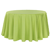 "132"" Round 200 GSM Polyester Tablecloth - Apple Green"