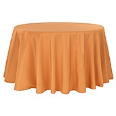 "132"" Round 200 GSM Polyester Tablecloth - Burnt Orange"
