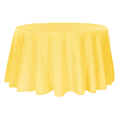 "132"" Round 200 GSM Polyester Tablecloth - Canary Yellow"