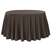 "132"" Round 200 GSM Polyester Tablecloth - Chocolate Brown"