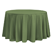 "132"" Round 200 GSM Polyester Tablecloth - Willow Green"