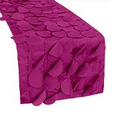 "Large Petal Gatsby Circle - Table Runner - 13"" x 108 - Fuchsia"