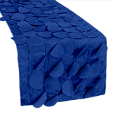 "Large Petal Gatsby Circle - Table Runner - 13"" x 108 - Royal Blue"