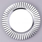 "Decostar™ Plastic Charger Plate 13""- Shiny Foil Finish - Silver - 24 Pieces"