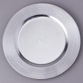 "Decostar™ Plastic Charger Plate 13"" - Silver - 24 Pieces"