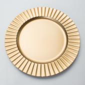 "Decostar™ Plastic Charger Plate 13"" - Matte Spray Finish - Gold - 24 Pieces"