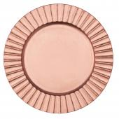 """Plastic Charger Plate 13"""" - Rose Gold - 24 Pieces"""