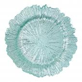 "Plastic Reef Charger Plate 13"" - Aqua - 24 Pieces"